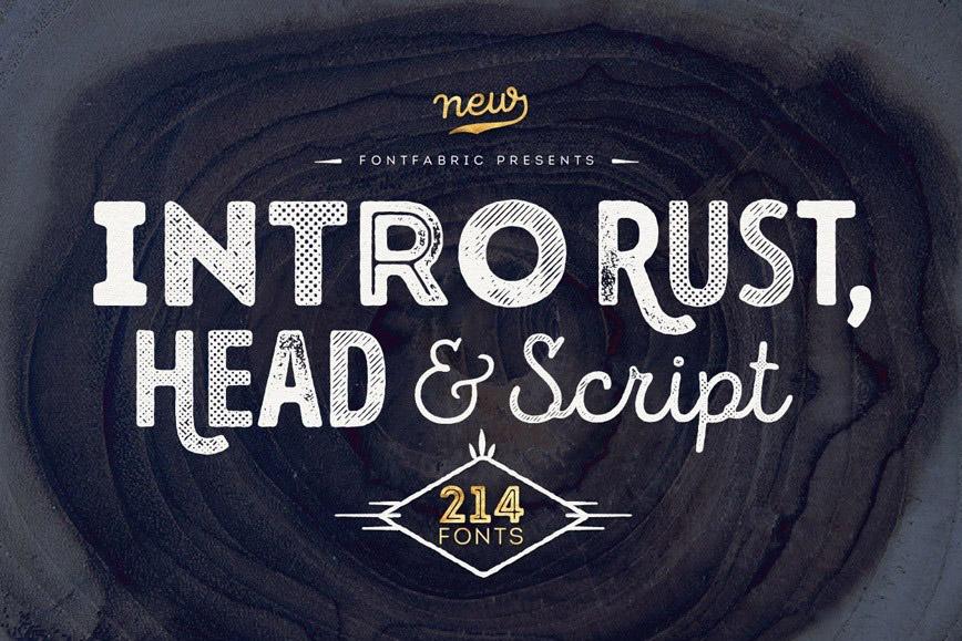 Intro Rust - Free Fonts Download Fontjedi