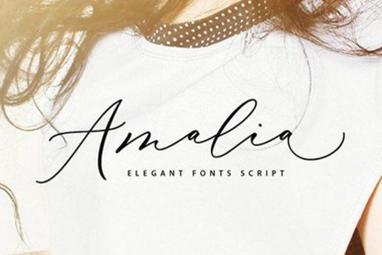Amalia Script Font - Free Fonts Download Fontjedi